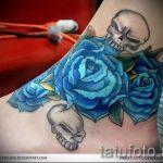 тату на лодыжке цветы - классные фото готовой татуировки 4