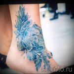 тату пионы на лодыжке - классные фото готовой татуировки 4