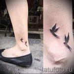 тату птицы на лодыжке - классные фото готовой татуировки 1