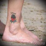 тату птицы на лодыжке - классные фото готовой татуировки 10