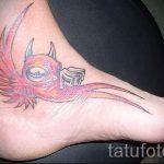 тату птицы на лодыжке - классные фото готовой татуировки 8