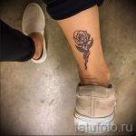 тату роза на лодыжке - классные фото готовой татуировки 9