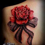 тату розы с кружевом - фото пример готовой татуировки 5
