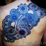 тату узоры кружево - фото пример готовой татуировки 1