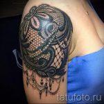 тату узоры кружево - фото пример готовой татуировки 2