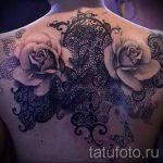 тату узоры кружево - фото пример готовой татуировки 3