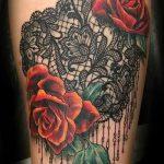 тату узоры кружево - фото пример готовой татуировки 4