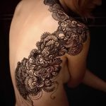 тату узоры кружево - фото пример готовой татуировки 5