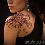 тату узоры кружево - фото пример готовой татуировки 6