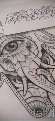 тату хамса – фото пример для статьи про значение татуировки 10