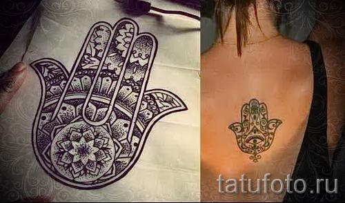 тату хамса - фото пример для статьи про значение татуировки 40