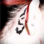 тату хной за ухом - фотографии вариантов готовых татуировок 3