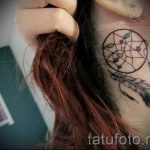 Dreamcatcher tatouage derrière l'oreille - les photos de tatouages options de finis 1