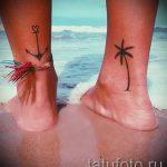 Tattoo auf Knöchel Frauen - cool Foto des fertigen Tätowierung 3