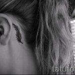 Tattoo hinter dem Ohr für die Mädchen - Bilder von Tattoos Optionen abgeschlossen 1