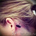 crown tattoo behind the ear 3