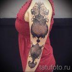 dentelle tatouage sur son bras - par exemple Photo du tatouage fini 1