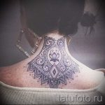 lace tattoo on his neck 2
