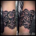 lace tattoo on the wrist - Photo example of the finished tattoo 1