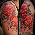 rose tatouage avec de la dentelle - Photo exemple du tatouage fini 1