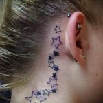 star tattoo behind the ear 2