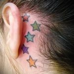 star tattoo behind the ear 6