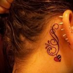 tattoo behind the ear for the girls - pictures of finished tattoos options 2