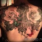 tattoo lace patterns - Photo example of the finished tattoo 2