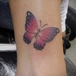 tattoo on her ankle butterfly 1