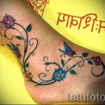 tattoo on her ankle butterfly 11