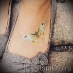 tattoo on her ankle butterfly 2
