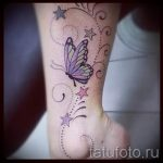 tattoo on her ankle butterfly 7
