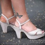 tattoo on her ankle butterfly 9