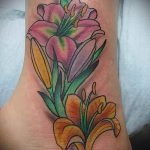 tattoo on her ankle lily 3