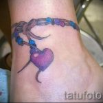 tattoo on the ankle bracelet - cool photo of the finished tattoo 1