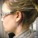 wings tattoo behind the ear - photos of finished tattoos options 1