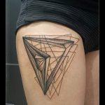 геометрия тату треугольник - фото пример классной татуировки от 14072016 1
