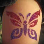 глиттер тату бабочка - фото пример от 24072016 2