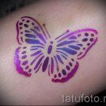 глиттер тату бабочка - фото пример от 24072016 7