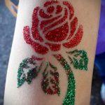 глиттер тату роза - фото пример от 24072016 1