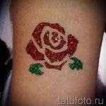 глиттер тату роза - фото пример от 24072016 3