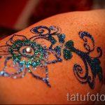 пример глиттер (блеск) татуировки на фото - вариант