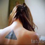классный тату треугольник - фото пример классной татуировки от 14072016 14