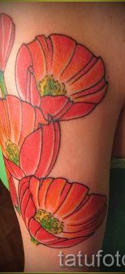 рисунок мак для тату – фото для статьи про значение татуировки 1