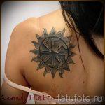 солнце славян тату - фото классной готовой татуировки от 14072016 3