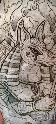 тату бога анубиса – фото татуировки для статьи про значение 1