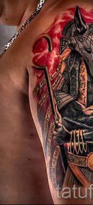 тату бога анубиса – фото татуировки для статьи про значение 3