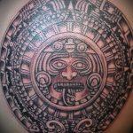 тату бог солнца - фото классной готовой татуировки от 14072016 2
