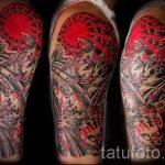 тату восходящее солнце - фото классной готовой татуировки от 14072016 2
