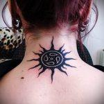 тату в виде солнца - фото классной готовой татуировки от 14072016 3